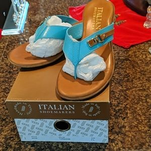 Italian made turquoise sandals 7 1/2
